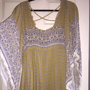 Free People Dress with bell sleeves. Worn once